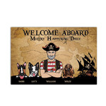 Pirate And Dog Welcome On Board Personalized Doormat DHC04061280
