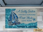 Personalized Sailor A Salty Sailor Anchor Doormat DHC0406337