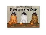 Rum And Catnip Personalized Doormat DHC04061278