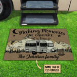 Personalized Camping Making Memories Customized Doormat DHC0406169