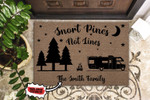 Personalized Camping Snort Pines Not Lines Doormat DHC0406366