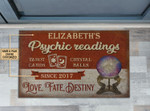 Personalized Tarot Psychic Reading Crystal Bacustomized Doormat DHC0406298