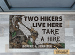 Personalized Hikers Live Here Take A Hike Doormat DHC0406340