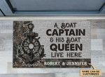 Personalized Boat Captain And Boat Queen Doormat DHC0406344