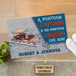 Personalized Pontoon A Pontoon Queen Customized Doormat DHC0406160
