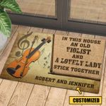 Love Violin Personalized Doormat DHC070687