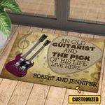Love Guitar Music Personalized Doormat DHC070680