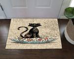 Black Cat Doormat DHC07061708