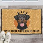 His Humans Personalized Doormat DHC07061033