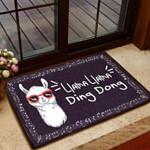 Cute Llama Llama Personalized Doormat DHC07061044