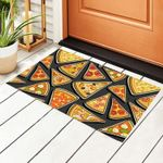 Personalized Square Repeating Pizza Doormat DHC07061092