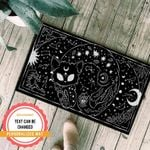Goth Cat Personalized Doormat DHC07061320