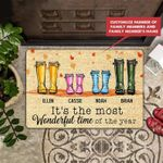 Time Of The Year Personalized Doormat DHC07061486