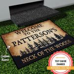 The Woods Personalized Doormat DHC07061332