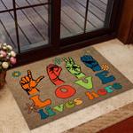 Love Lives Here Doormat DHC07061797