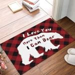 Bear Red Personalized Doormat DHC07061326
