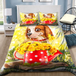 Lovely Dog With Sunflowers NI2202070YD Bedding Set