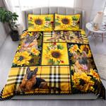 German Shepherd Yellow Tartan NI0303035YT Bedding Set
