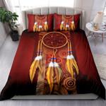 Dark Brown Burgundy Circles Background And Dreamcatcher NI1003002YT Bedding Set
