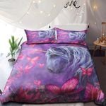 Unicorn With Pink Butterflies NI0901060YD Bedding Set