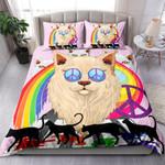 Cat Rainbow Peace And Love NI1103004YT Bedding Set