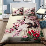 Red Crowned Crane And Flowers NI0701124YD Bedding Set