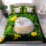 European Hedgehog Playing In The Flower Garden NI2403005YT Bedding Set