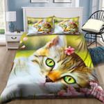 Cute Cat Lying NI2603030YD Bedding Set