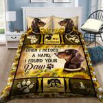 Dachshund I Found Your Paw Sunflower NI1604002YL Bedding Set