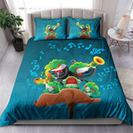 Frogs Playing Music And Singing Together NI1703005YT Bedding Set