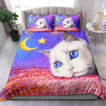 Cat Head With Moon And Star NI1103003YT Bedding Set