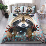 Raccoon Stuck Out Its Paws And Asks For Food NI1003008YT Bedding Set