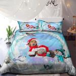 Dachshund And British Cat Merry Christmas NI0901023YD Bedding Set