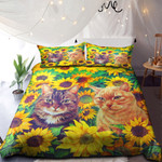 Two Cute Cats In Sunflowers Gardern NI0901059YD Bedding Set