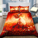 Red Fox With Flowers NI1303076YD Bedding Set
