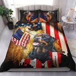 Rottweiler American Flag YP1005009YG Bedding Set