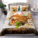 Dinosaur Scares Through A Crack In A Room Wall NI2203008YT Bedding Set