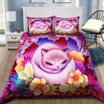 Cute Cat With Flowers NI0302035YD Bedding Set