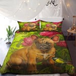 A Brown Dog And Flowers NI0901002YD Bedding Set