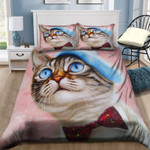 Oil Painting With A Cat Pink Dream NI2603042YD Bedding Set