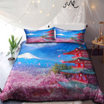 Temple Mountain And Flowers NI3001118YD Bedding Set