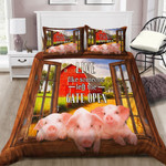 Pig Live Like Someone Left The Gate Open YP2604004XE Bedding Set