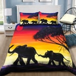 Elephant Sunset Painting NI0701105YD Bedding Set
