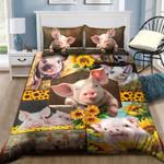 Cute Pig Sunflower NI2004002YL Bedding Set