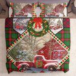 Red Christmas Truck Barn House Kl1411064Cl