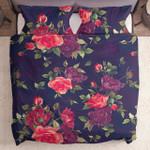 Red Violet Roses Floral Pattern Yw1801041Cl