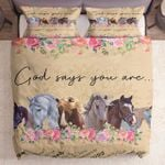 God Say You Are Horse Kl1709068Cl Bedding Set