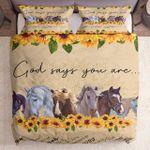 God Say You Are Sunflower Horse Kl1709096Cl Bedding Set