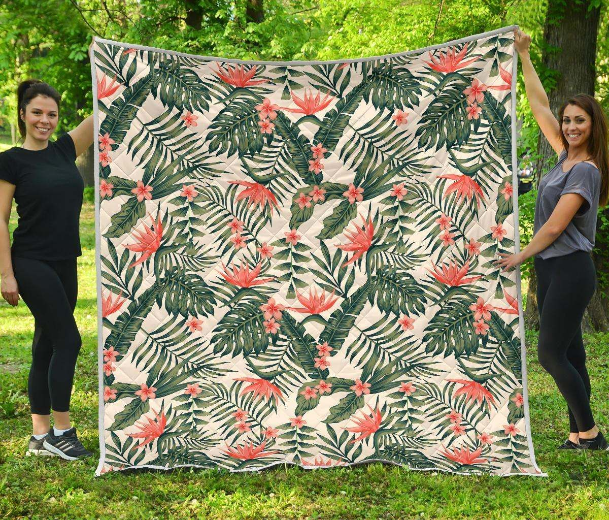 Blossom Tropical Leaves Cl17100099mdq Quilt Blanket Nolext Sewhic