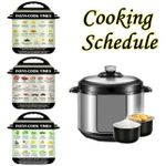 3Pcs Cooking Schedule Magnetic Cheat Sheet
